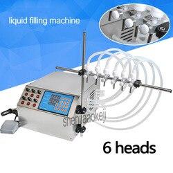 4L/min 6 głowice maszyny do napełniania pompy elektryczne sterowanie cyfrowe maszyny do napełniania maszyny do napełniania cieczy 3-4000 ml do cieczy  perfumy  wody  soku  itp.