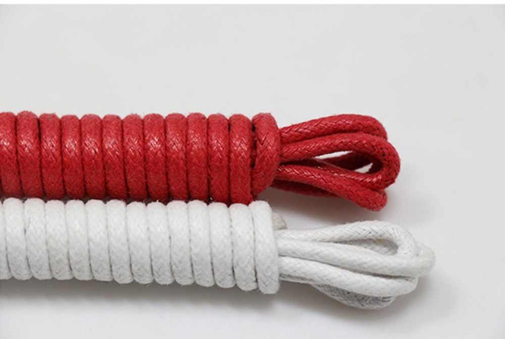 1 par de zapatos largos encerados con cordones suaves y resistentes al agua para zapatillas de deporte Martin botas para hombre y mujer cuerdas
