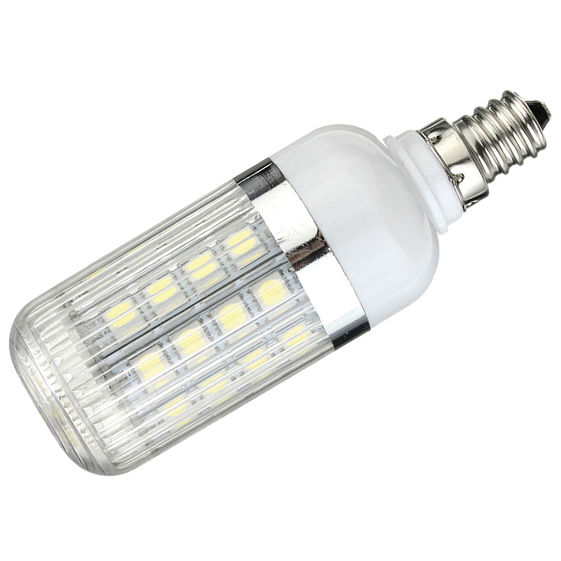 E12 5W Dimmable 36 SMD 5050 LED Corn Light Bulb Lamp Color Temperature:Pure White(6000-6500K) Amount:8 Pcs new corn bulb e27 9 11 12 14w 220v pure warm white smd 5050 44 52 60 64 led spot light bulb lamp flat tube