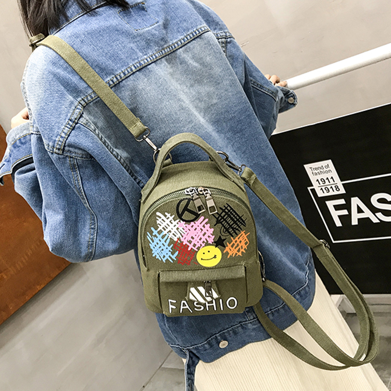 Women 2018 Cute smiley face Backpack For Teenagers Children Mini Back Pack Kawaii Girls Kids Small Backpacks Feminine Packbags smiley face door window children safety lock band 2 pack set
