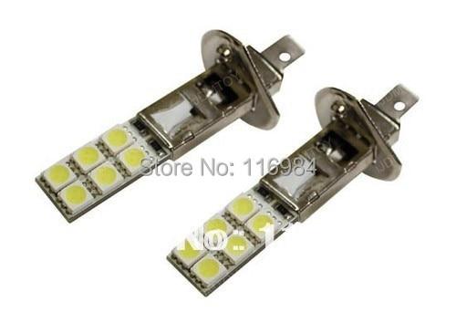 1pcs White H1 12-SMD 5050 Car LED Fog Light Headlight Driving DRL Lamps Bulbs