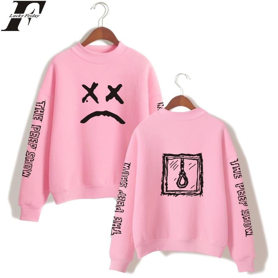 LUCKYFRIDAYF 2018 Lil Peep Spring Oversize Warm Turtlenecks Casual Sweatshirts Women Long Sleeve Printed Sweatshirts Plus Size