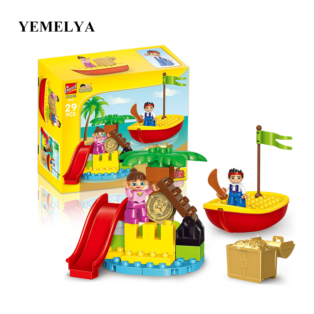 63pcs Pirate Series the Jake's Pirate Ship Particle Building Blocks Set Toys Compatible Pirates War Bricks Educational Baby red pirate ship blocks compatible legoingly war pirate king character action diy bricks cannon building blocks toys for children