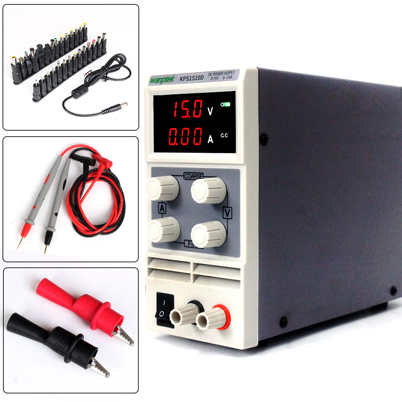 with Power head adapter,15V 10A 110/220V 0.1V 0.01A digital adjustable Mini DC Power Supply Switch DC power supply cps 6011 60v 11a digital adjustable dc power supply laboratory power supply cps6011