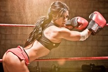 boxer sexy babe woman girl fighter hot shirt  YR146 living room home wall modern art decor wood frame poster