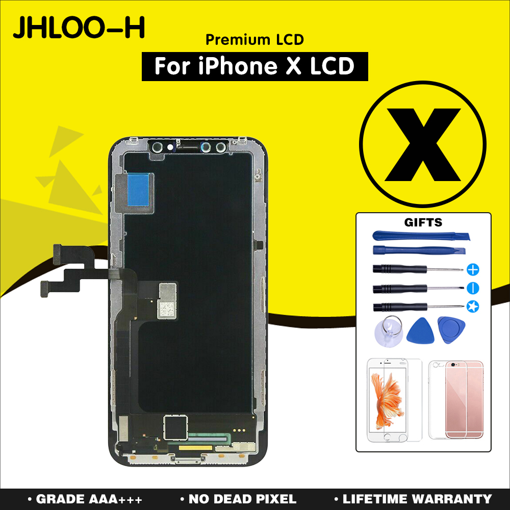 10 teile/los AAA +++ Für iPhone X XR XS MAX Bildschirm Ersatz Mit OLED Montage Display LCD No Dead Pixel
