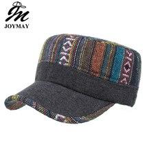 Joymay New Winter Female woman Adjustable flat cap Military Hats Fashion pattern Leisure Casual Western Style Snapback HAT P012