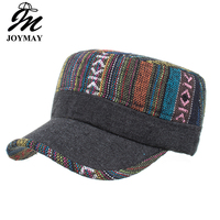 Joymay New Winter Femal woman Adjustable flat cap Military Hats Fashion pattern Leisure Casual Western Style Snapback HAT P012