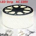 Светодиодная лента AC220V 3014 120led/m Водонепроницаемая светодиодная лента IP65 со штепсельной вилкой Светодиодная лента белого и синего цвета Све...