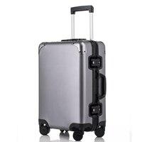 20 ''24'' 29 ''100% Алюминий Чемодан чемодан путешествия троллейбус прокатки Spinner Hardsider вести Чемодан чемодан кабина чехол