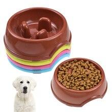 Pet Dog Plastic Bowl Slow Feed Anti Choke Anti-Gulping Anti-skid Food Feeder Eating Dogs Bowls Treater Supplies