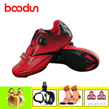 BOODUN road bike shoes sapatilha ciclismo bicicleta carretera pedals cycling sneakers self-locking breathable superstar shoes sidebike cycling shoes road men carbon sapatilha ciclismo mtb bike shoes zapatos bicicleta sneakers self locking white 2019 new