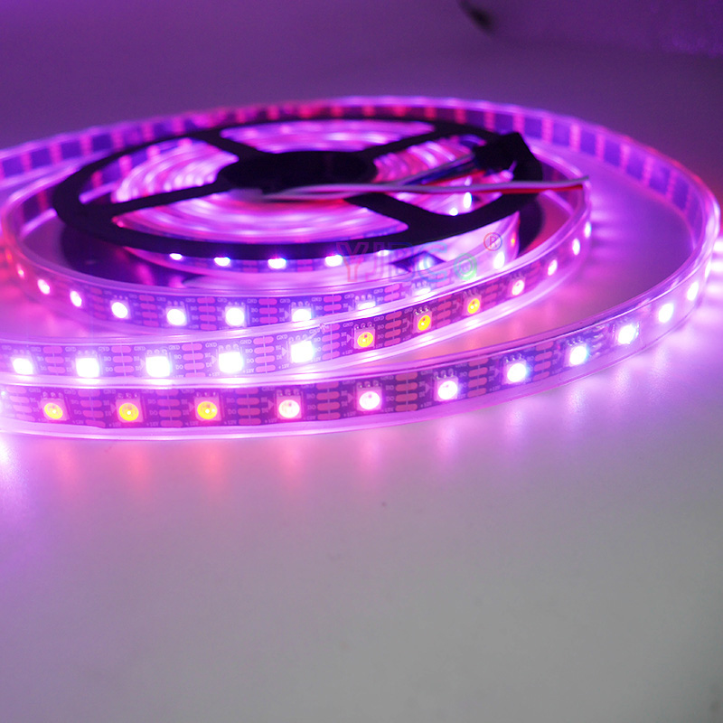 Image 4 - 1m/3m/5m DC12V WS2815 pixel led strip light,Addressable Dual signal Smart,30/60/144 pixels/leds/m Black/White PCB,IP30/IP65/IP67-in LED Strips from Lights & Lighting