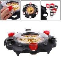 1 компл.. Электрический питьевой игровой набор рулетка для вечерние взрослых партия казино стиль 6 шоты подарок взрослых детей