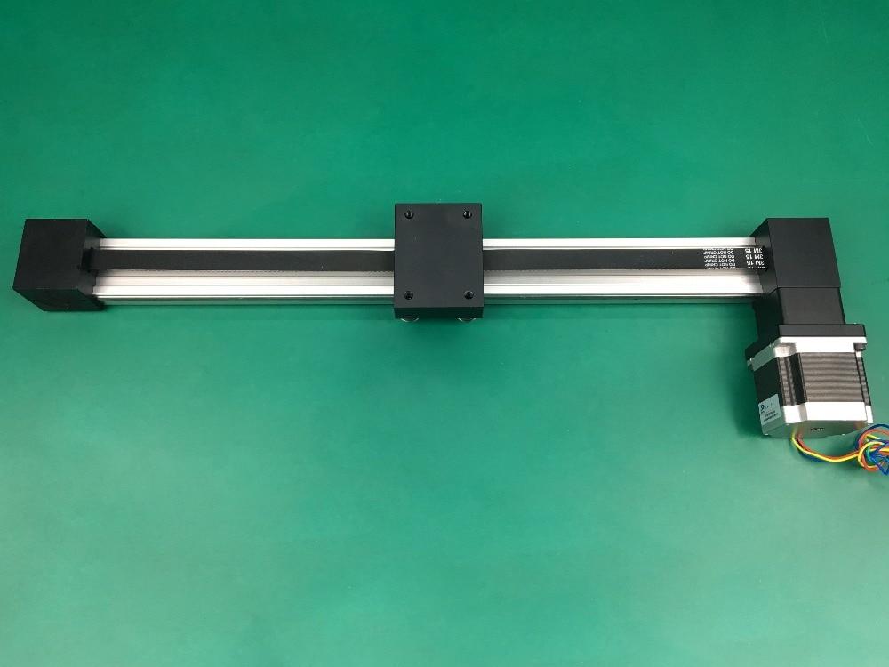 Synchrone ceinture glissière linéaire XP 100mm 300mm course table glissière de guidage glisser ceinture de synchronisation linéaire table coulissante + nema 23 moteur pas à pas