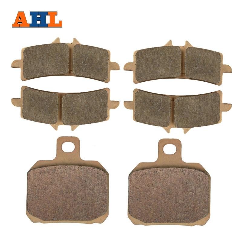AHL 3 Pairs Motorcycle Front & Rear Brake Pads For Ducati 4pcs lot ferodo front car brake pads for volkswagen toureg 7l6 v6 fsi 3 6 fdb1877