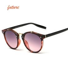 2018 Rodada Do Vintage Rebite Óculos De Sol Das Mulheres Marca Designer  Eyewear UV400 Gradiente Feminino Óculos de Sol Retro Ele. d98f9a86c4