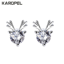 Exquisite Cute Elk AAA Cubic Zirconia Earrings For Women Trend Jewelry Party Gift Brincos