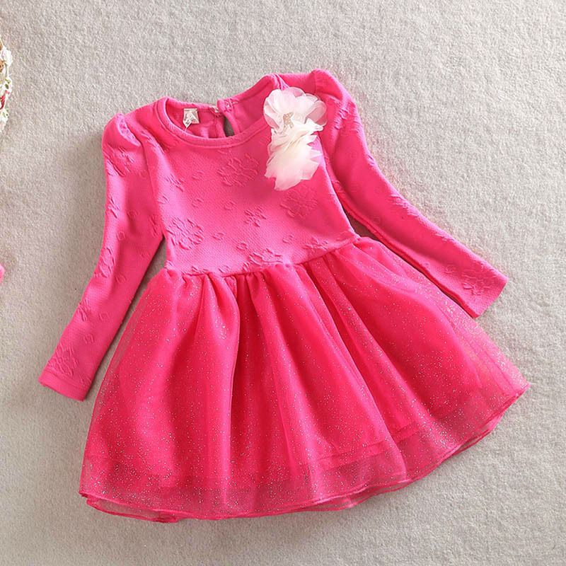 46caa14c75ab Children Spring Fall Floral Dresses Baby Girl Long Sleeve Winter ...