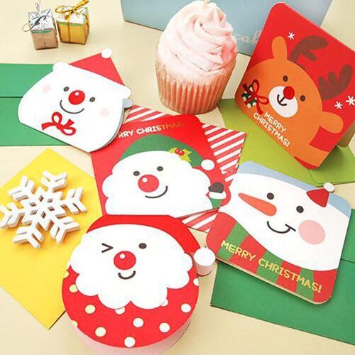 1 Stück Gruß Karte Weihnachten Stil Nette Schule Festival Lieferungen Büro Geschenk Post Karten (tt-2620)