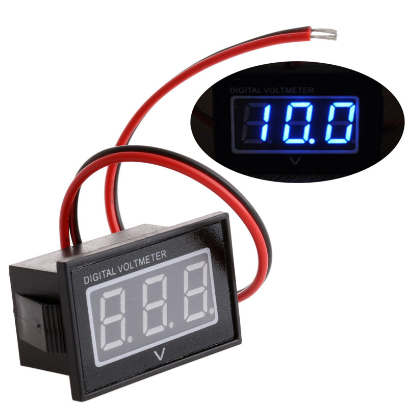 High Quality 1 Pc New DC 3.0-30V Waterproof <font><b>Battery</b></font> Meter Auto <font><b>Car</b></font> Gauge Digital Voltmeter LED image