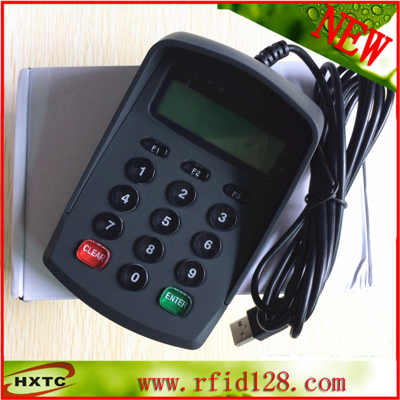 HX532DA smart contact chip card reader writer with PinPad contact card reader with pinpad numeric keypad for financial sector counters