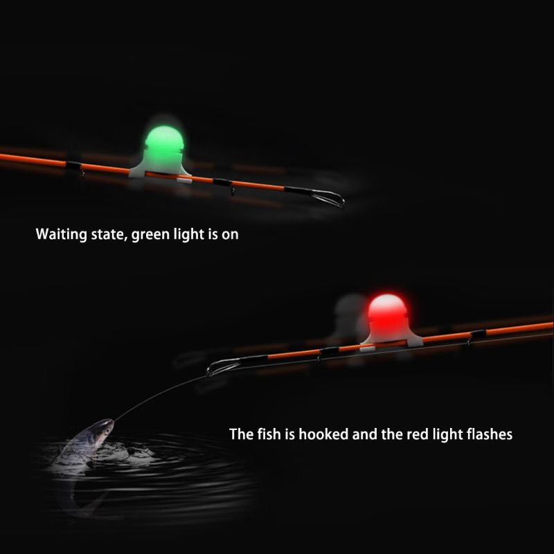 OOTDTY Mini LED Light Automatic Induction Fishing Alarm Rod Tip Carp Night Fishing Light Auto Recognition Bite Alarm in Fishing Tools from Sports Entertainment