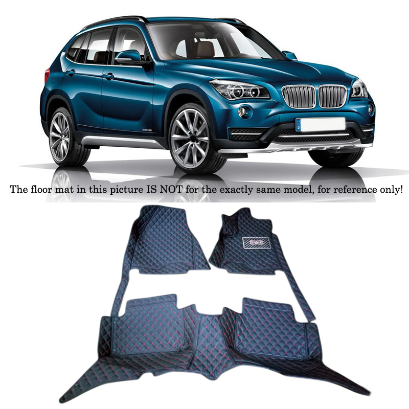 For BMW X1 E84 2011 2012 2013 2014 2015 Interior Leather Carpet Floor Mat Car Foot Mat 1set Car Styling accessories! for mazda cx 5 cx5 2012 2013 2014 2015 2016 accessories interior leather floor carpet inner car foot mat