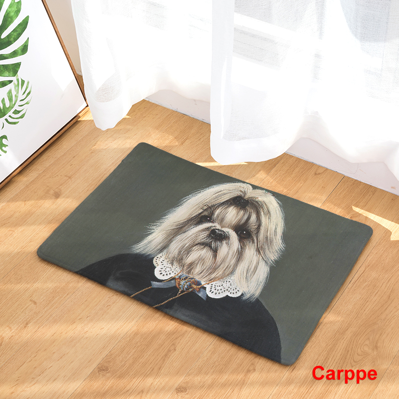 2017 Dog People Print Carpets Non Slip Kitchen Rugs For Home Living Room Floor Mats 40x60cm In