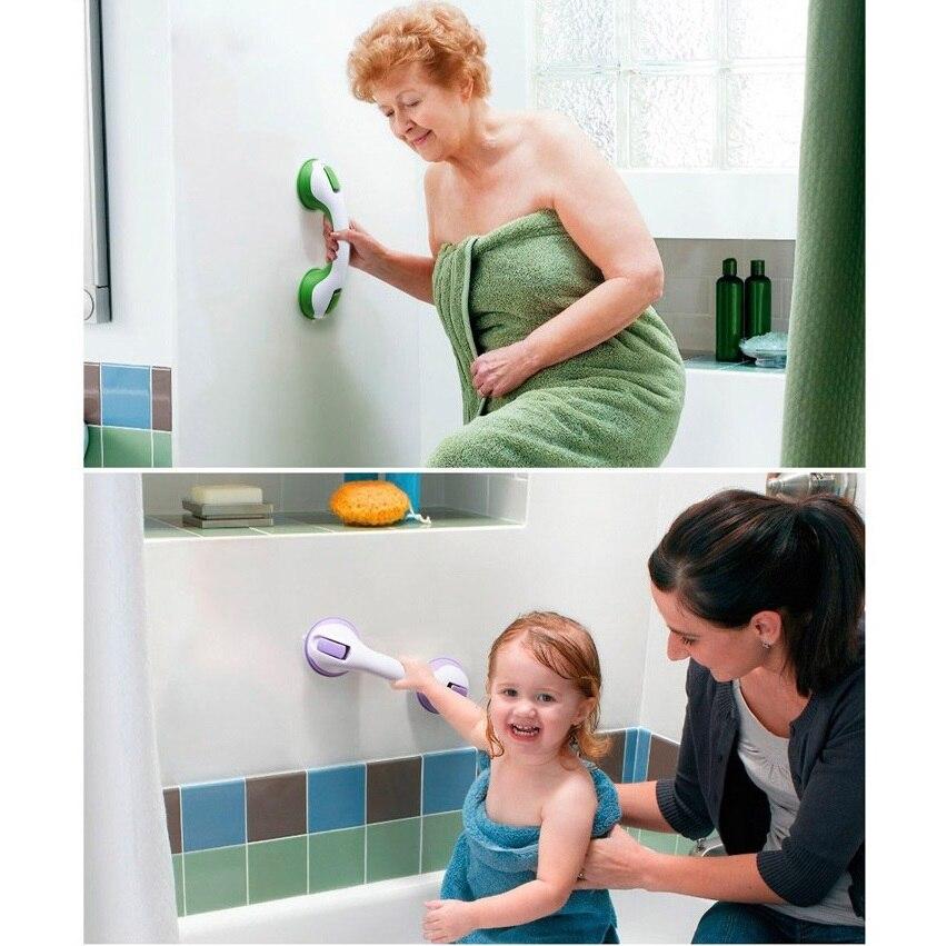 Suction Cups Safety Handle For Glass Ceramic Tile Handle Grab Bar For Kids Children Elderly Disabled Bathroom Shower Grab Handle