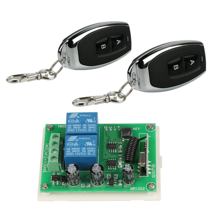 QIACHIP 433Mhz Wireless Remote Control Switch DC 12V 10A 2CH Relay Receiver Module with RF Transmitter 433 Mhz Remote Control H4 315 433mhz 12v 2ch remote control light on off switch 3transmitter 1receiver momentary toggle latched with relay indicator