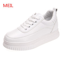 2018 Spring Autumn white sneakers women Ladies Casual flat Shoes Women chaussures femme platform shoes female for