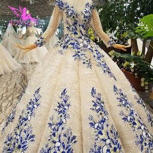 Image 2 - AIJINGYU חתונה Dressesing שמלות יוקרה שמלות לבן כדור פקיסטני לקנות בדובאי ריינסטון שמלת קוריאני שמלת חתונה