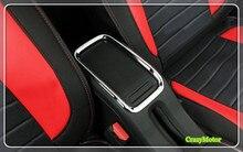 1pcs ABS Chrome Inner Armrest Frame Decorative Trim For PEUGEOT 2008 2014 2015 2016 2017 car styling