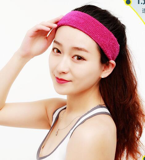 Men Sports Sweat Headbands Cheap Men Headband Sports Women Fitness Yogo Headband Sweat Hood Turban Headband 17 Colors In stock