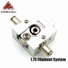 3D-принтеры DIY RepRap бульдог цельнометаллический экструдер для 1.75 мм Совместимость j-глава MK8 экструдер дистанционного для 3D части принтера