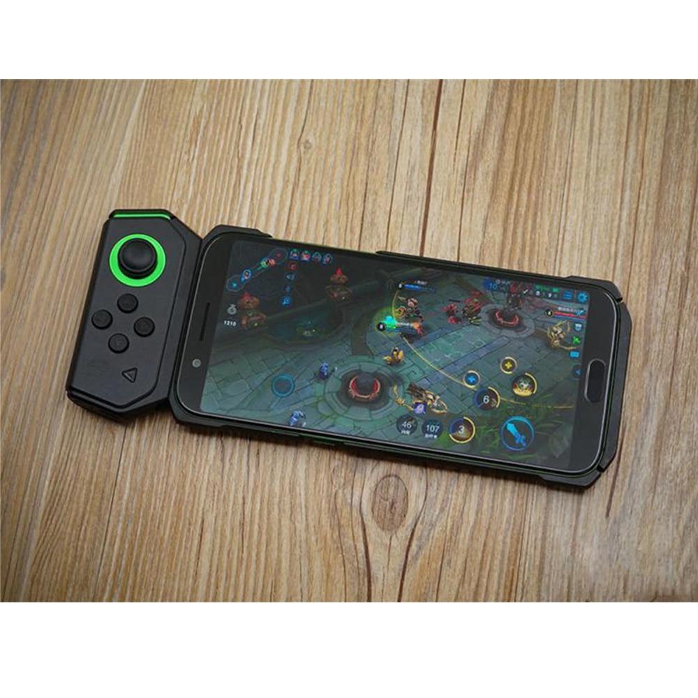 Manette de jeu noir requin avec étui de protection contrôleur de jeu gauche pour Xiaomi téléphone Android manette de jeu sans fil Bluetooth - 5