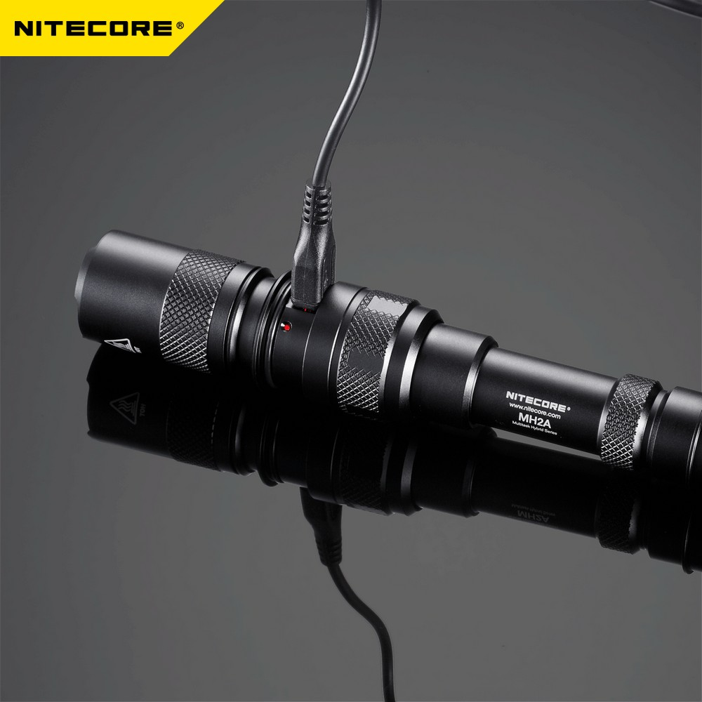 TOPSALE NITECORE MH2A 600 Lumens U2 LED Rechargeable Flashlight Military Outdoor Tactical Torch Without AA Battery Free Shipping - 5