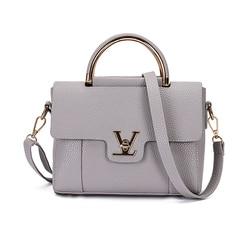 2016 women v letters saffiano handbags women leather commuter office ring tote bag women s pouch.jpg 250x250