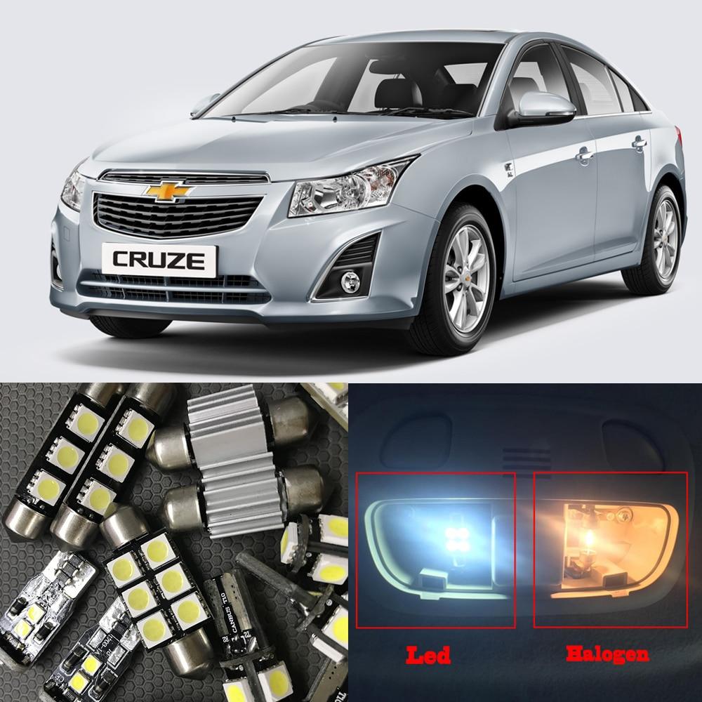8x Auto Car Led Light Bulbs Interior Kit For 2010 2015 Chevy Chevrolet Cruze 6000k White Led Map