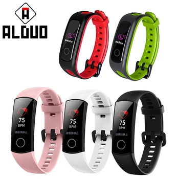 ALANGDUO Strap for HUAWEI honor band 4 Smart band Double color belt for honor 4 Smart Bracelet Colorful Replaycement for Huawei honor 4 smart band