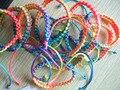 Wholesale jewelry 10pcs Lots Colorful Braid Thread HandMade Woven Friendship Bracelet Surfer Wrist Band