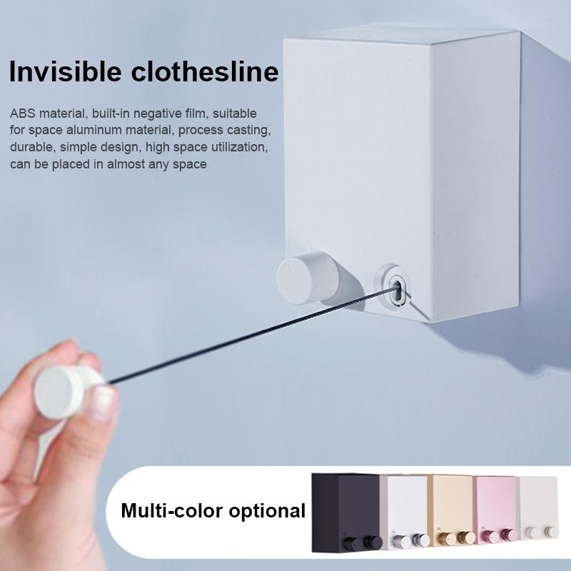 Retractable Indoor Clothes Wall Hanger Magic Drying Rack