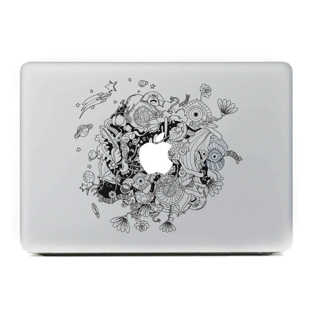Không gian bên ngoài hành tinh Vinyl Decal Sticker cho New Macbook Pro/Không Khí 11 13 15 Inch Máy Tính Xách Tay Trường Hợp Bìa Sticker