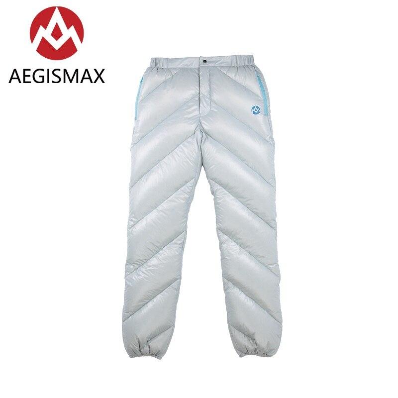 Aegismax 95% Duvet d'oie Blanche Pantalon Hommes Et Femmes D'hiver En Plein Air Camping Randonnée Vêtements Épaissir Chaud Vers Le Bas Pantalon 2 Couleurs