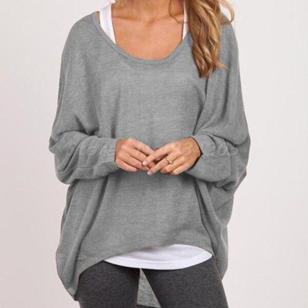 Women Long Sleeve Loose Blouse T-Shirt Pullover Jumper Casual Tops Tee-Shirt