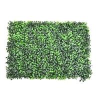 63 44cm DIY Artificial Grass Lawn Plastic Green Plants Landscape Square Turf Eucalyptus Leaf Sod For