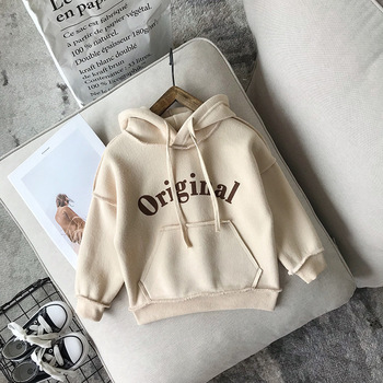 New Arrival Baby Boys Girls Sweatshirts Winter Spring Autumn Child Plus Velvet Hoodies Long Sleeves Sweater Kids T-shirt Clothes 1