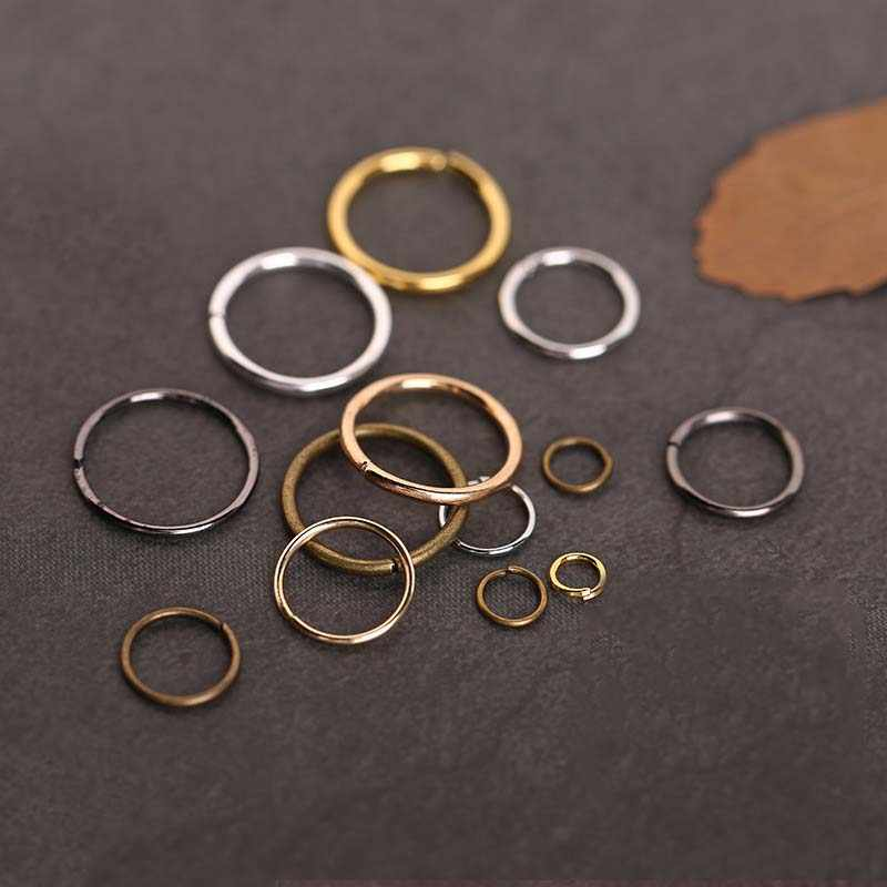 1Pack/lot 6 Colors Metal Open Jump Rings 4/5/6/7/8/10/12/14/16mm Alloy Split Rings Connectors for DIY Jewelry Making Findings