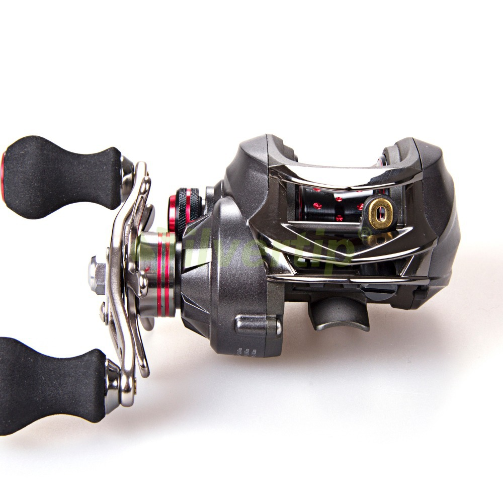 Free Shipping Dynamic 12+1 BB 6.3:1 Baitcasting Fishing Reel Bait Caster Casting Baitcast Centrifugal Brake System Metal Frame free shipping trulinoya 10 1 bb 6 3 1 baitcasting fishing reel bait casting baitcast caster right or left hand new dw1000